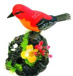 Lovely twiting bird in red